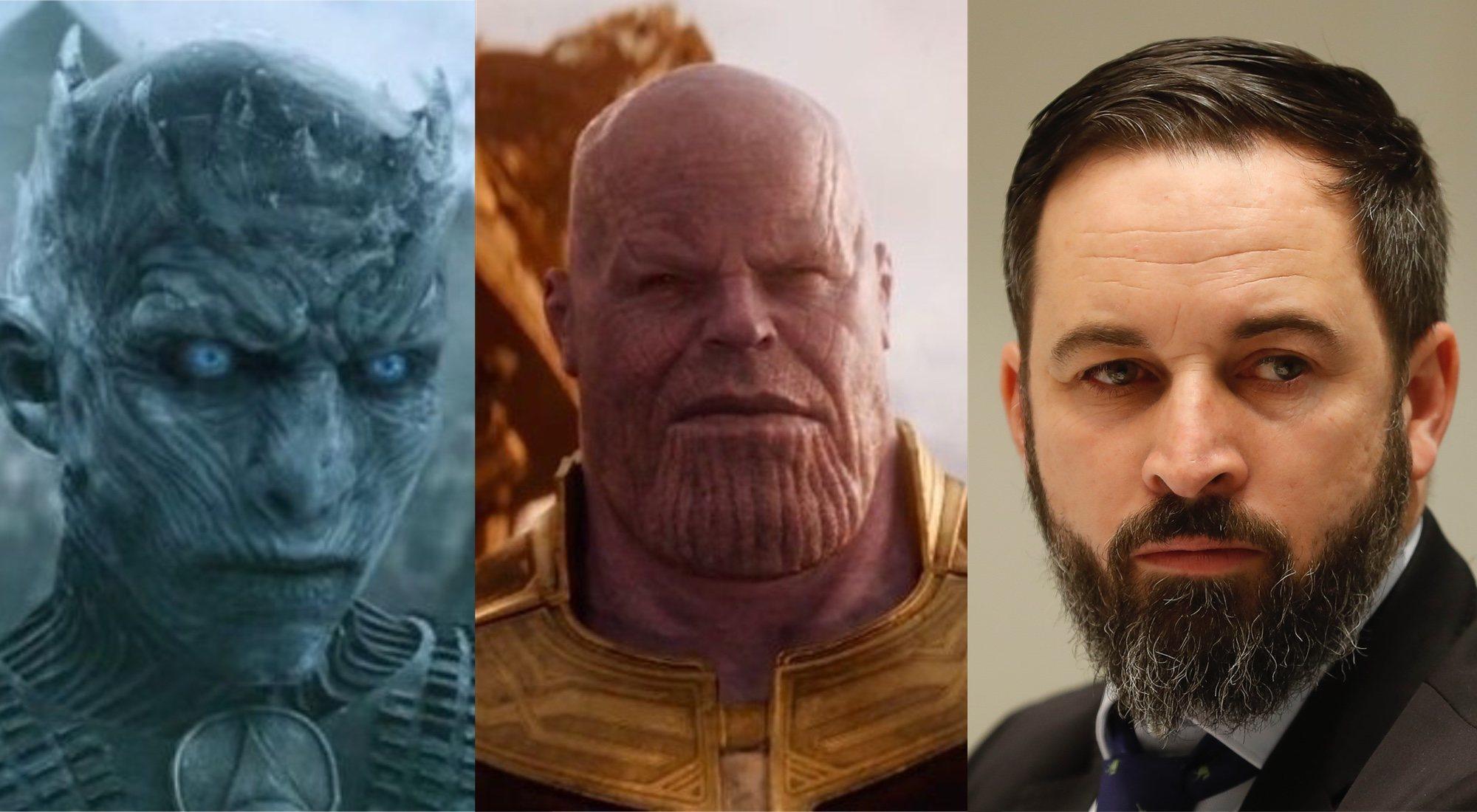 Thanos, el Rey de la Noche y Santiago Abascal: un fin de semana, tres batallas