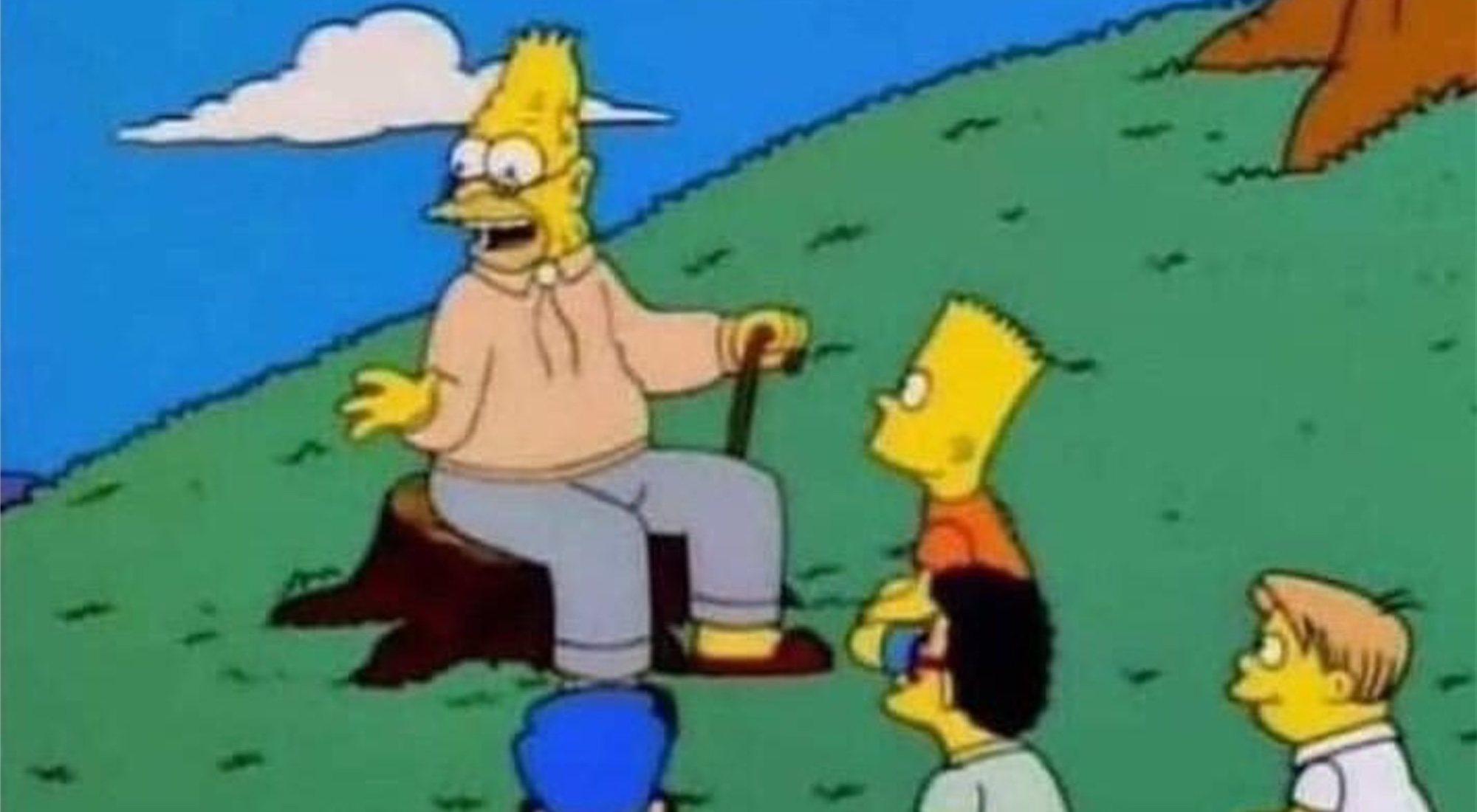 Los memes del abuelo Simpson nos recuerdan que ya somos como él