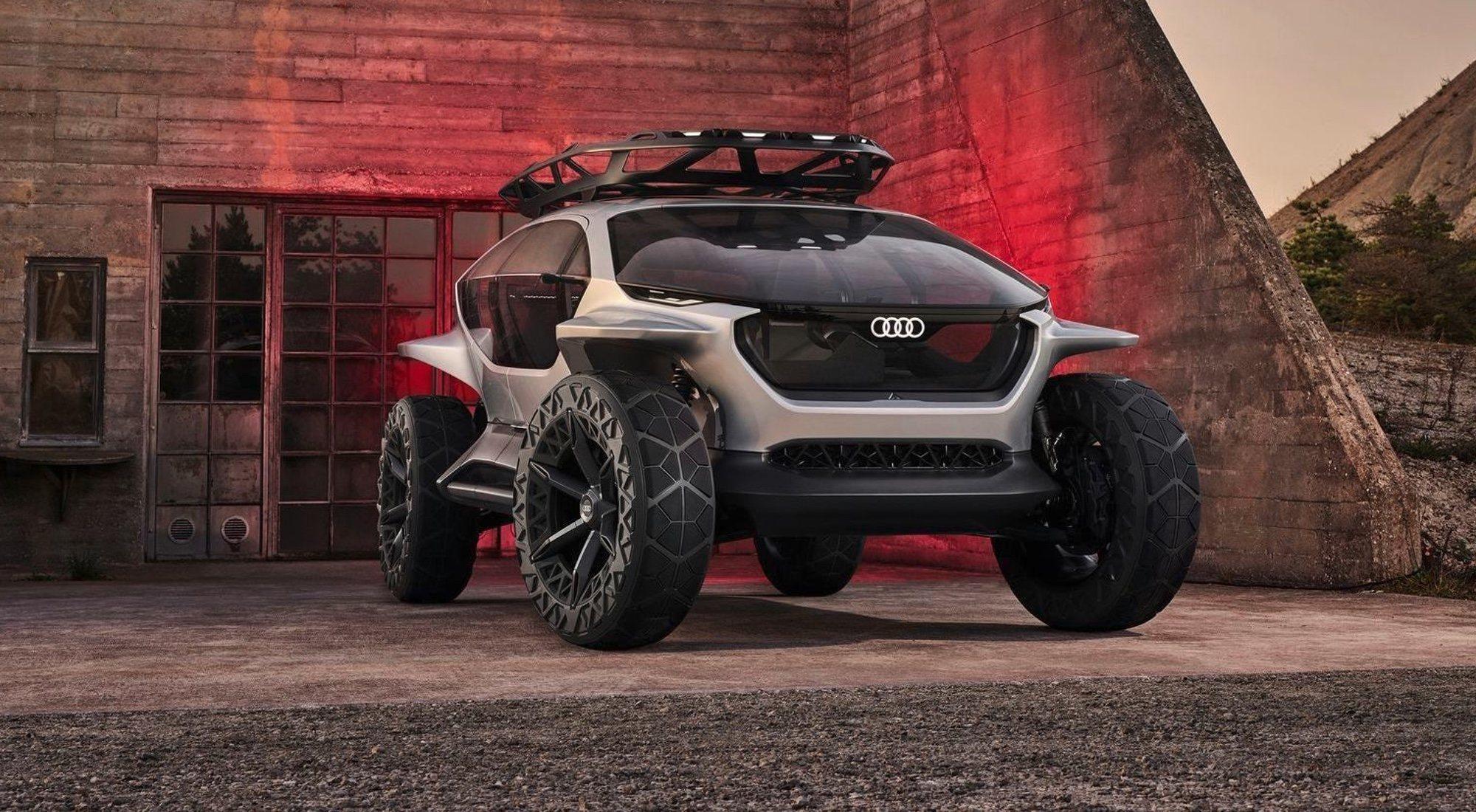 Audi AI: TRAIL quatrro, el coche que usa drones en lugar de faros