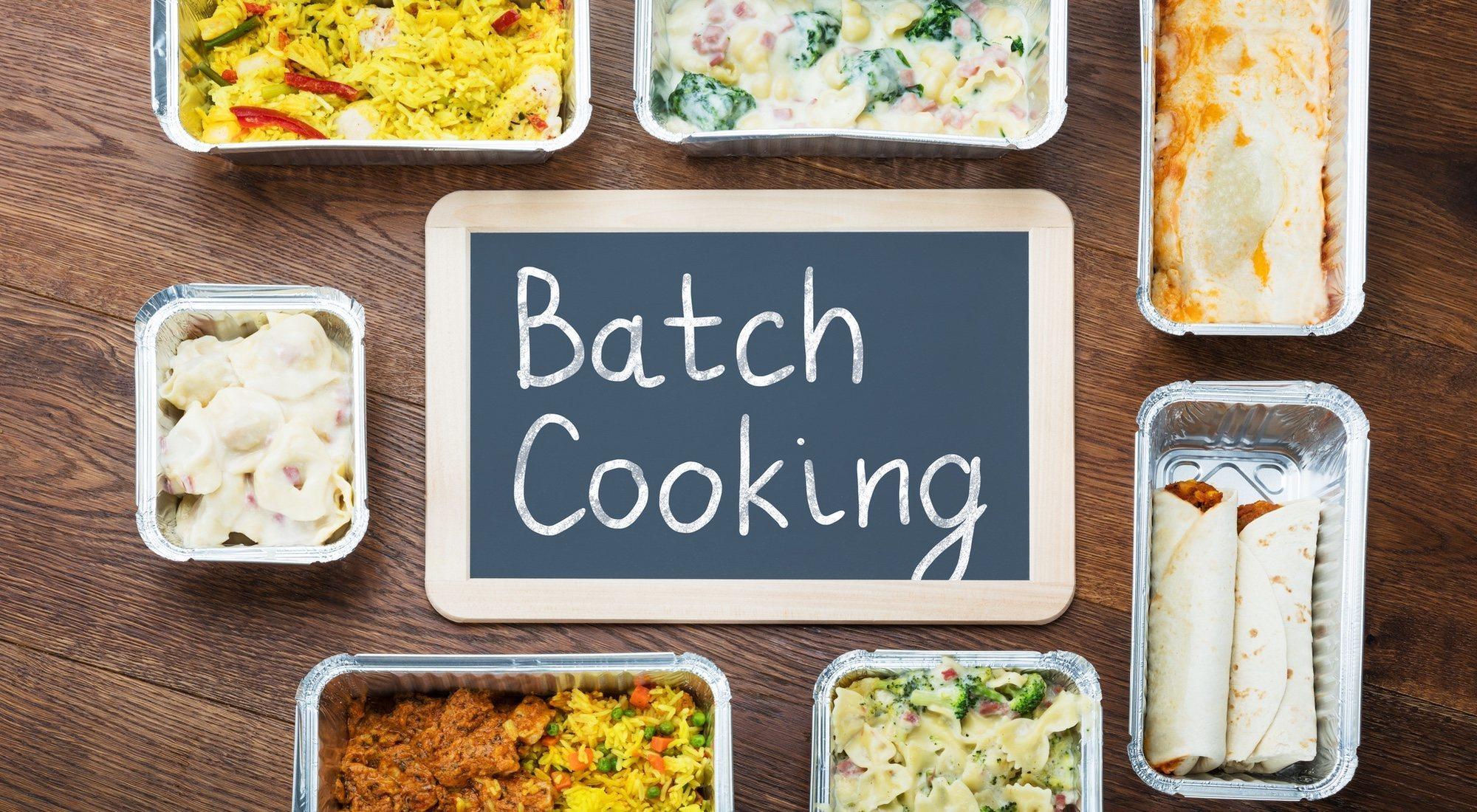 Método 'batch cooking': cocinar un día para toda la semana