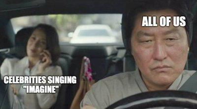 Los famosos cantan 'Imagine' y 'Color Esperanza' pensando que van a animar a alguien... y no