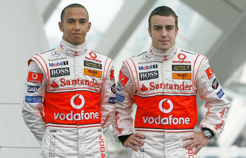 Alonso y Hamilton no congeniaron como compañeros de equipo en McLaren.