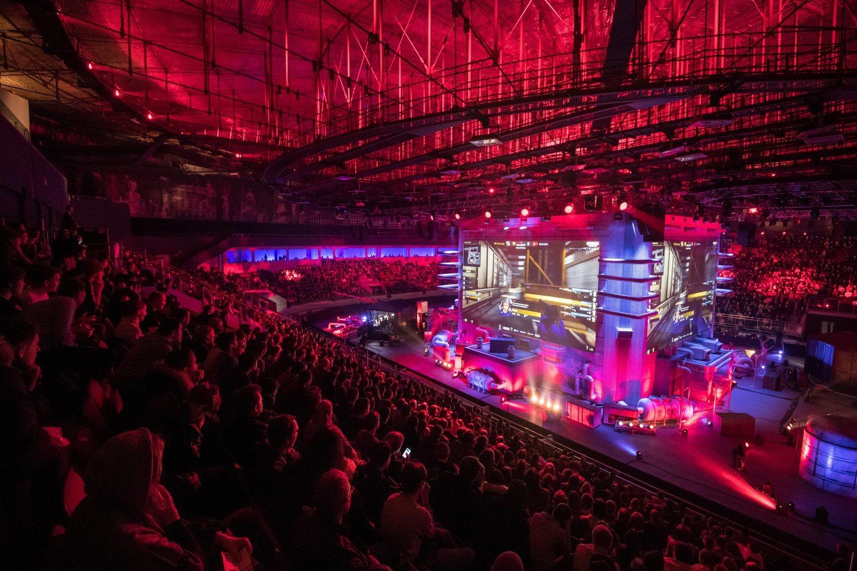 Imagen de la final del campeonato de eSports celebrado en 2017 en la ciudad rusa de San Petersburgo.