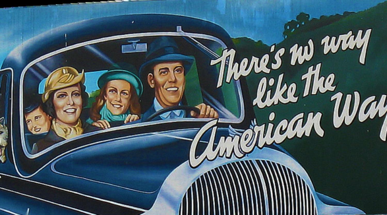 El famoso cartel de 'American Way of Life', un símbolo de propaganda estadounidense.