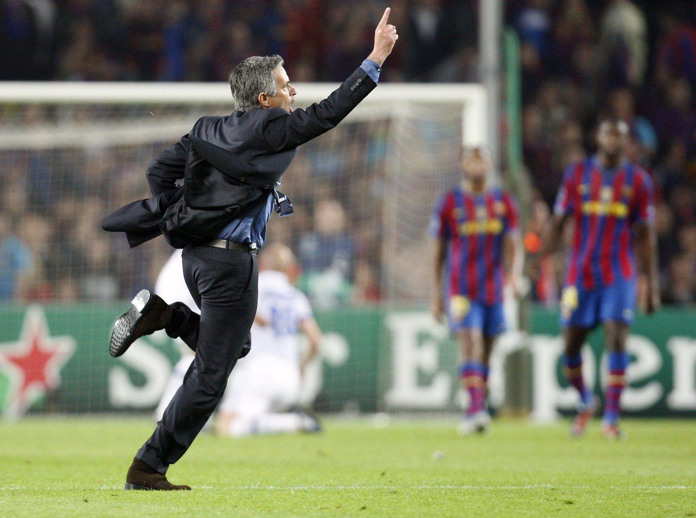 José Mourinho evitó que el Barcelona pudiera levantar la Champions Leage en el Santiago Bernabéu en la temporada 2009/10.