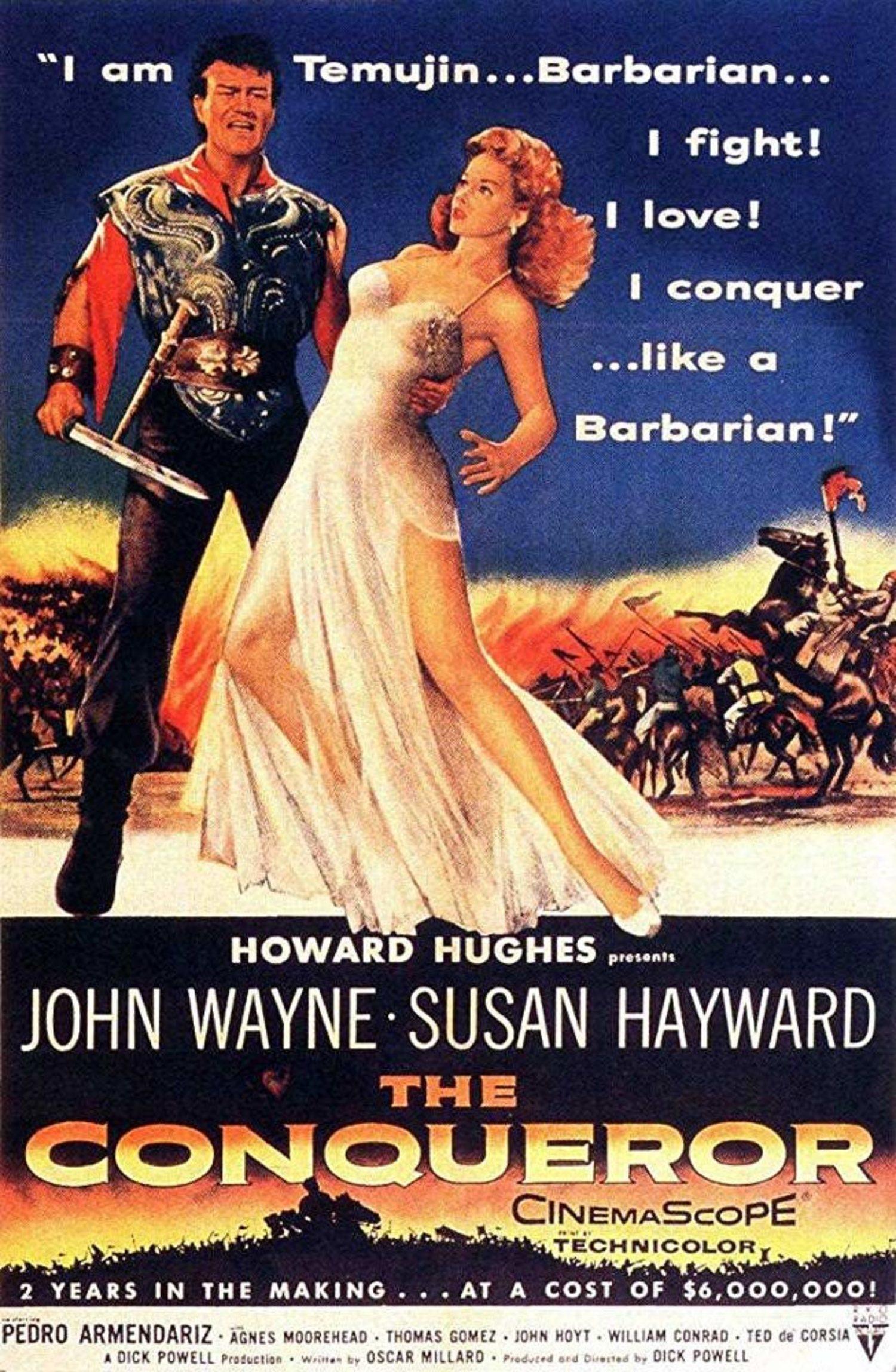 El rodaje de la película se hizo cerca de una zona donde el gobierno estadounidense había realizado pruebas nucleares.