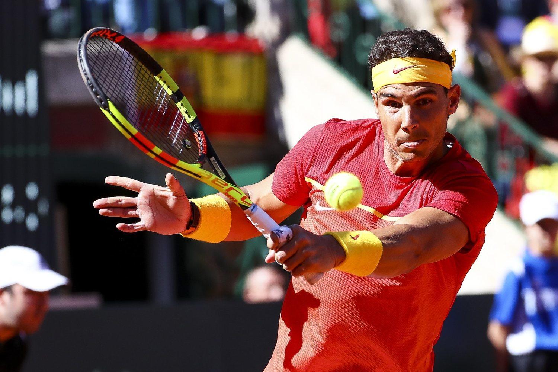 Rafa Nadal en la Copa Davis de 2018