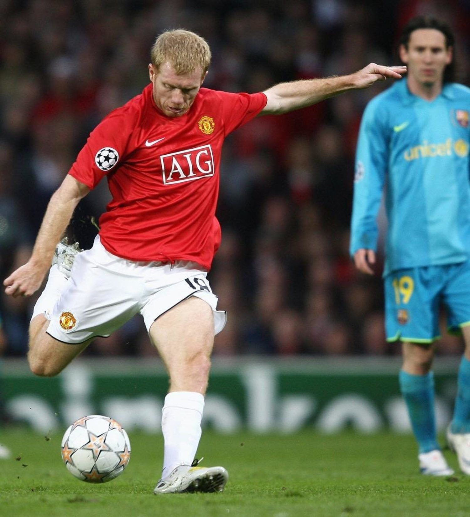 El centrocampista inglés se retiró en 2011. Sin embargo, Sir Alex Ferguson le convenció para que volviera al equipo un año después, debido a la plaga de lesiones que sufrió el Manchester United aquel año.