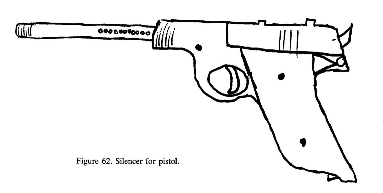 'El libro de cocina del anarquista' establece instrucciones sobre cómo construir armas caseras. Aquí, la imagen de un silenciador.