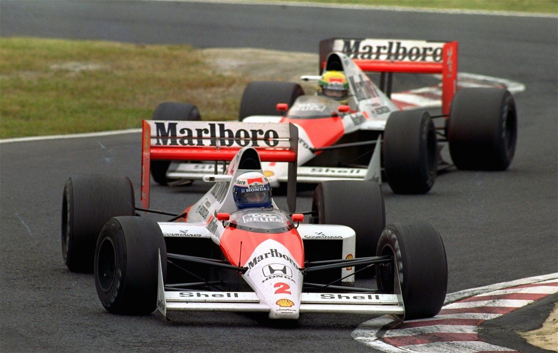 La rivalidad Senna-Prost, una de las más importantes de la historia del deporte.