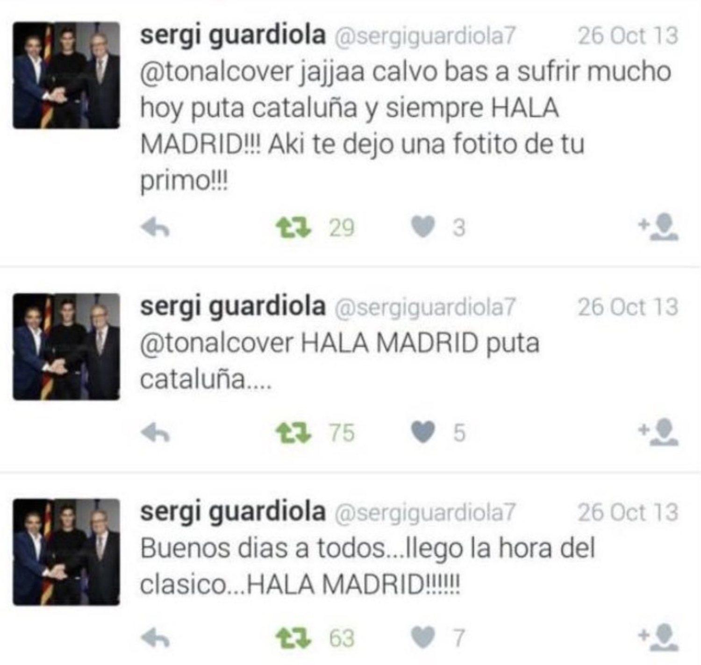 Sergi Guardiola no guardaba mucho cariño a Cataluña y al Barça allá por 2013...