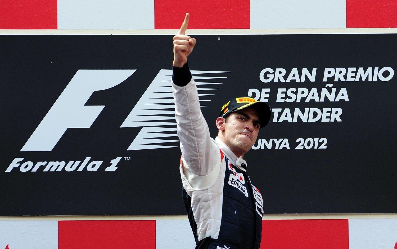 Maldonado tras su victoria en el año 2013