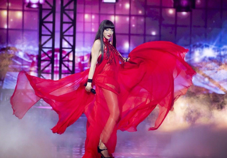 Dana Internacional en la primera semifinal de Eurovision 2019