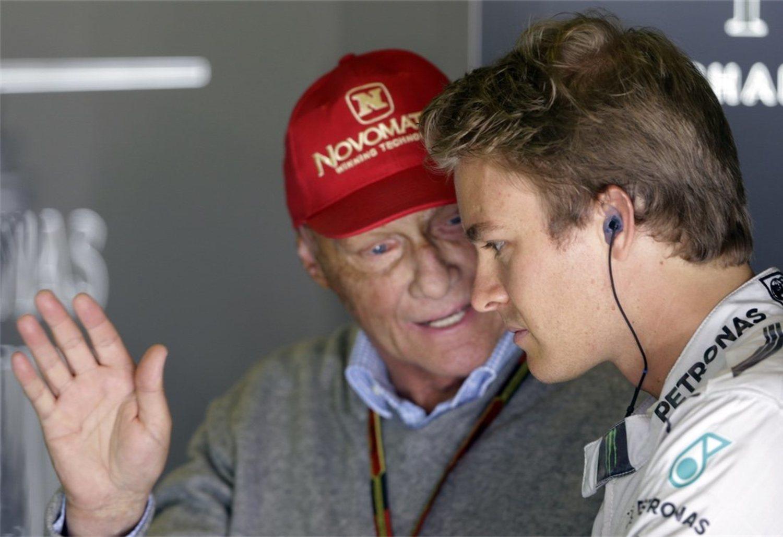 Lauda siguió dando consejos a los pilotos hasta el final