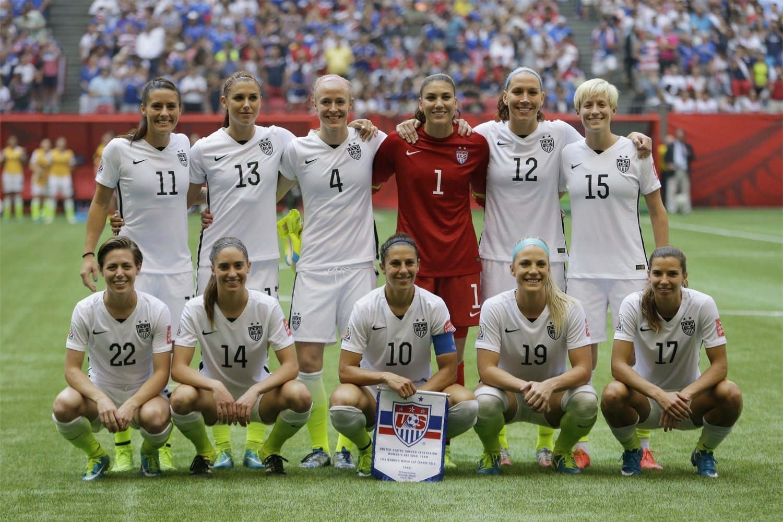 La Selección de EEUU que consiguió ganar el Mundial 2015 ante la selección japonesa