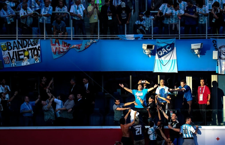 Diego Armando Maradona, el verdadero dios para tanta gente de Argentina y Nápoles.