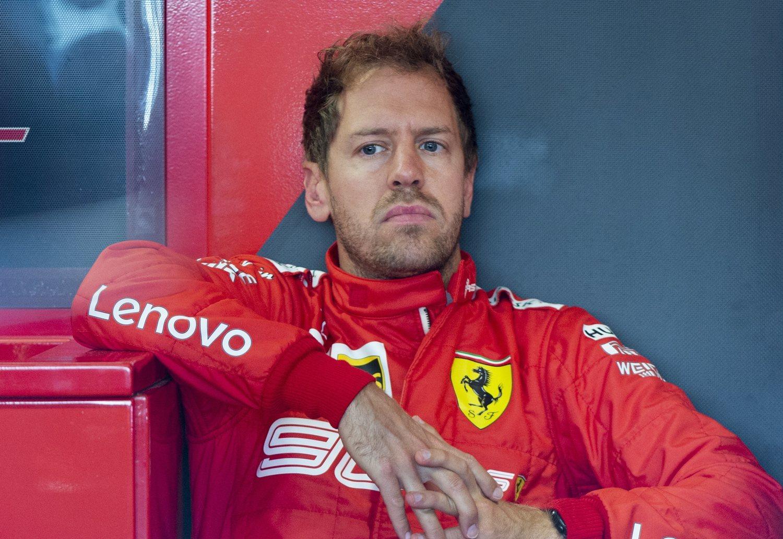 Esta es la cara que más hemos visto a Vettel esta temporada.