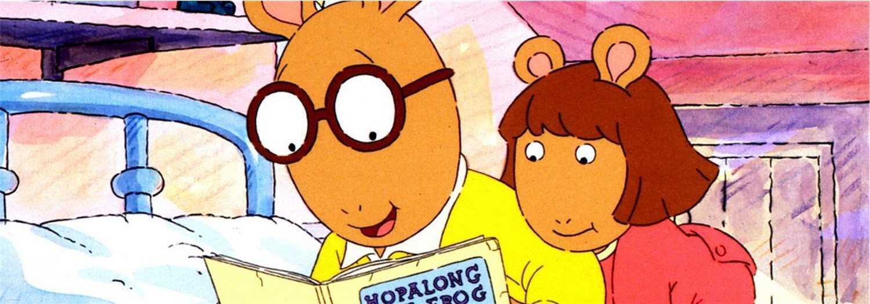 Arthur y su hermana DW durante un capítulo de los más de doscientos de la serie