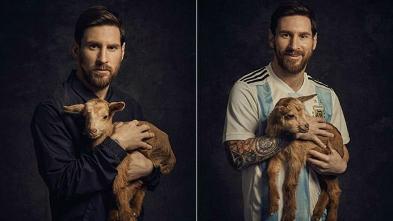 Leo Messi, el G.O.A.T. con una goat.