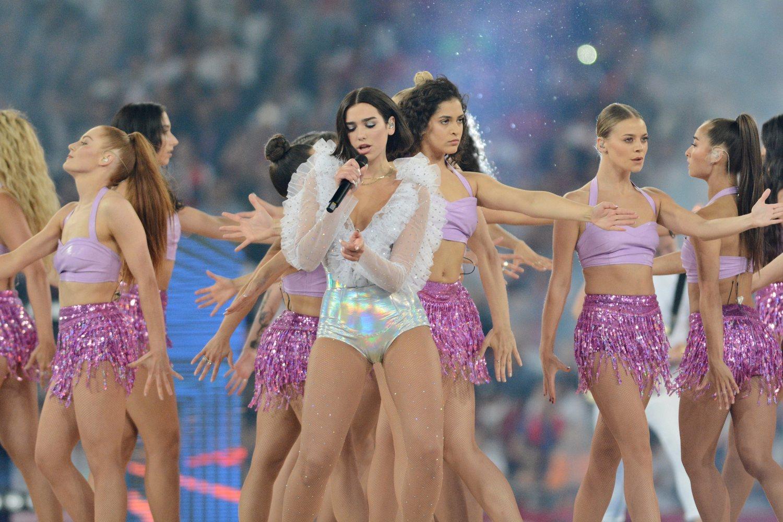 La espectacular actuación de Dua Lipa en la final de la Champions League 2018 en Kiev.