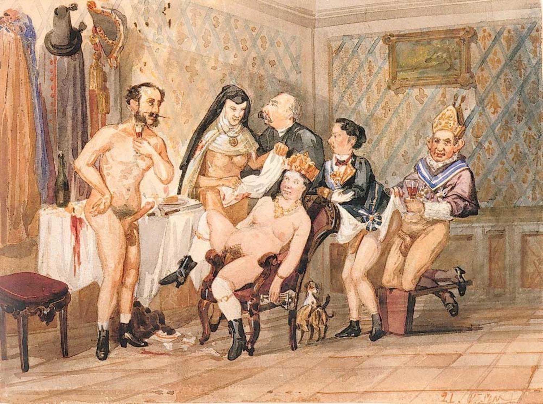 Las infidelidades de la corte de Isabel II fueron retratadas por una serie de pinturas supuestamente atribuídas a los hermanos Becquer.