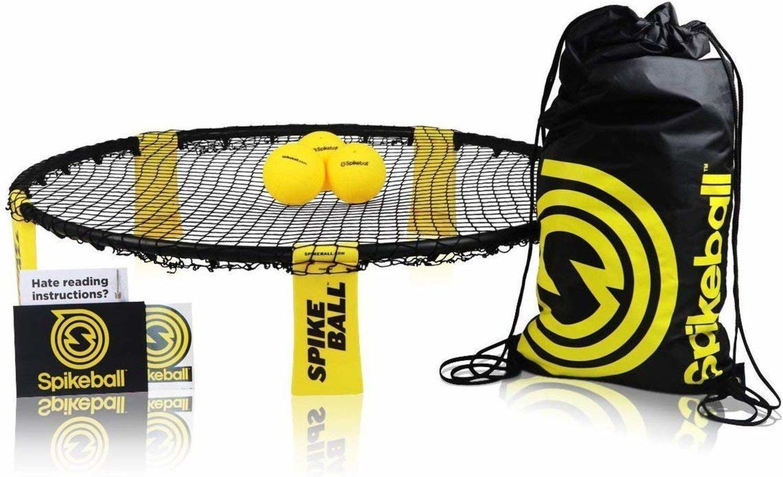 Equipo completo de spikeball, ideal para llevar a todas partes.