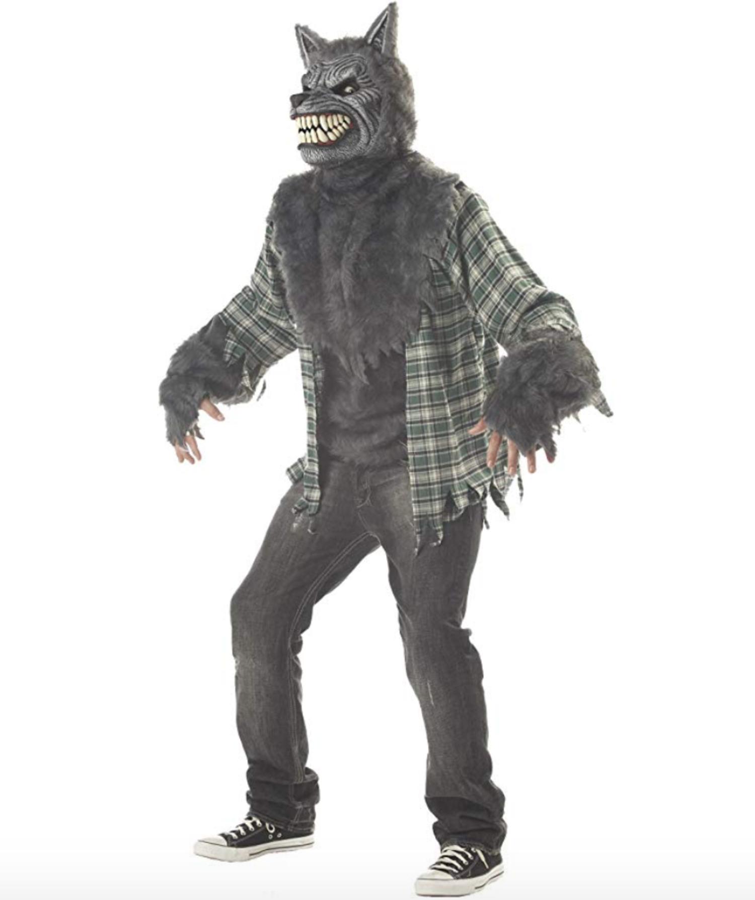 Disfraz hombre lobo.