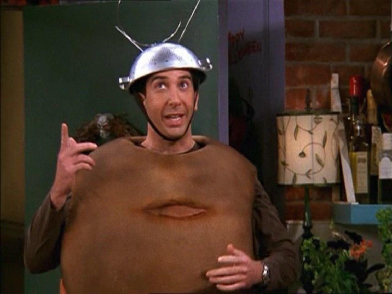 Ross disfrazado de Spotnik en 'Friends'.