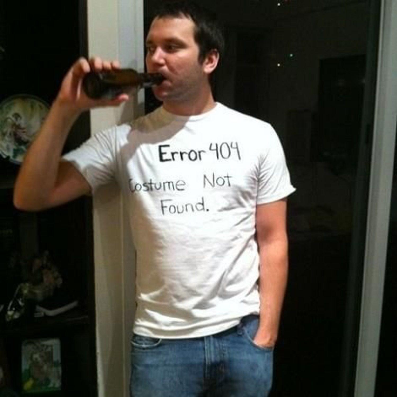 Disfraz 'Error 404'.