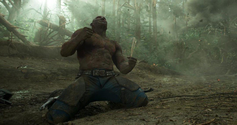 Batista en su papel de Drax en Guardianes de la Galaxia.