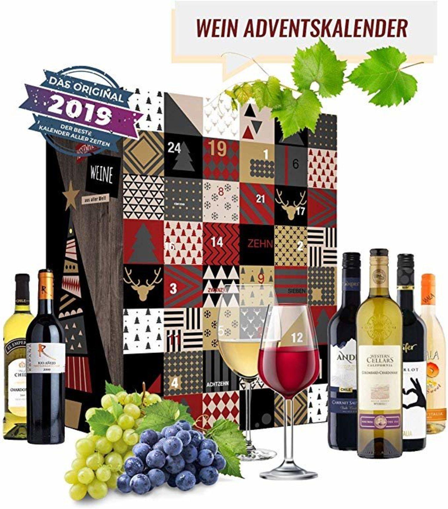 Calendario de adviento de vinos.