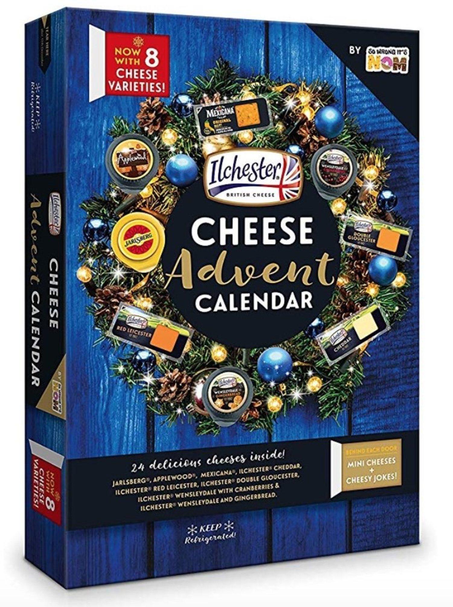 Calendario adviento de quesos.