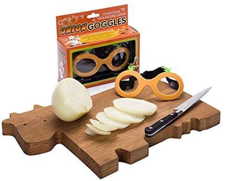 Gafas protectoras para cortar cebolla.