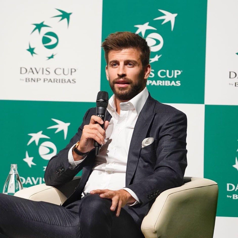 El director de Kosmos Holding durante la presentación de la Copa Davis de Madrid 2019.