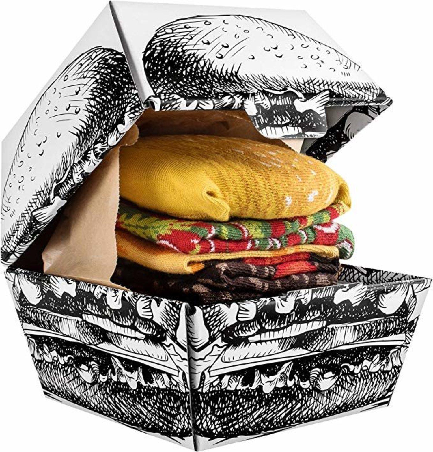 Calcetines hamburguesas.