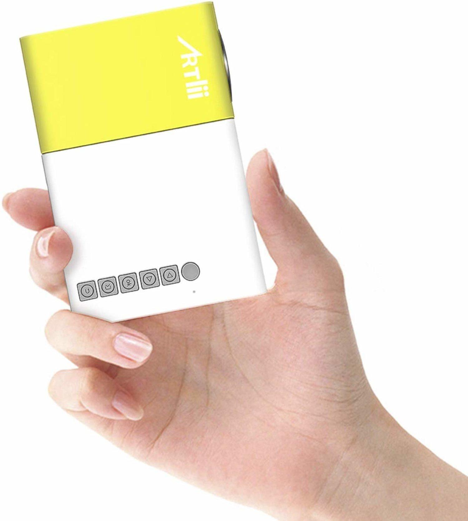 Mini proyector portátil para móvil.