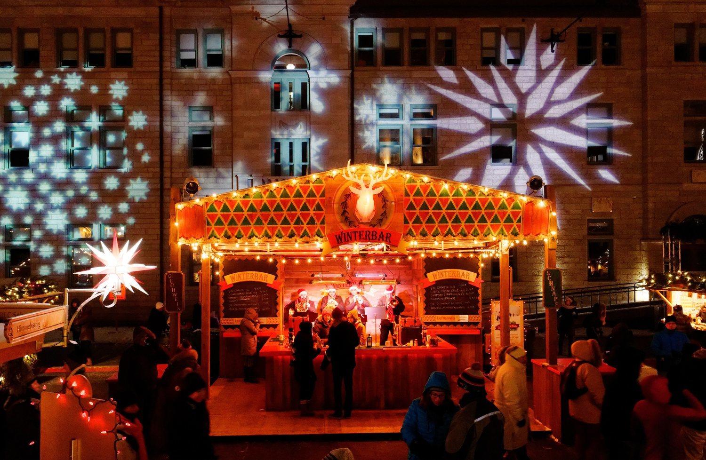 El mercadillo de Québec está inspirado en los mercados navideños de Alemania.