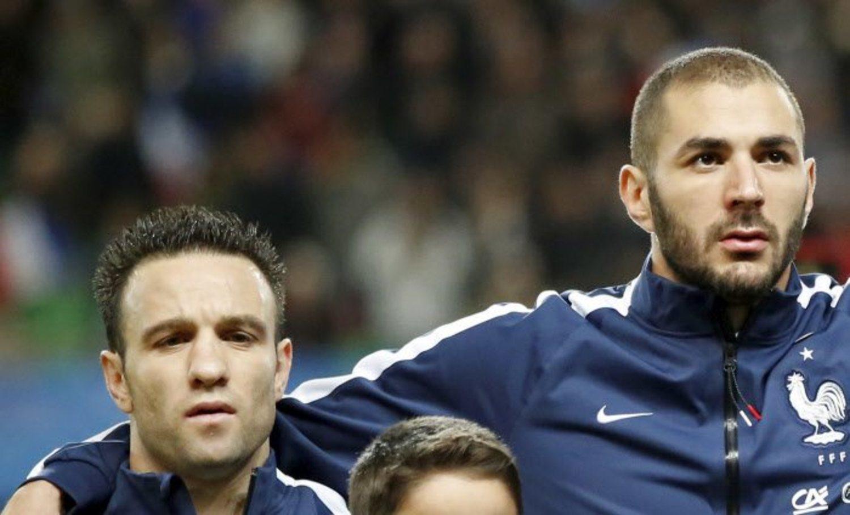 Karim Benzema y Mathieu Valbuena juntos en 2014