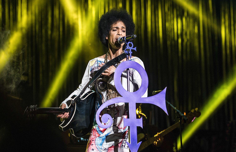 Prince, en una de sus últimas apariciones en público.