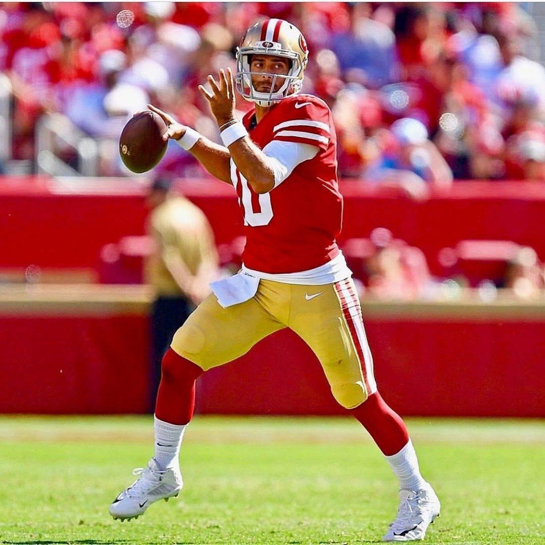 Jimmy Garoppolo es el quarterback de los San Francisco 49ers y llega como una de las claves del partido.