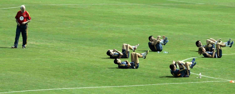 La selección española concentrada antes del Mundial de 2006