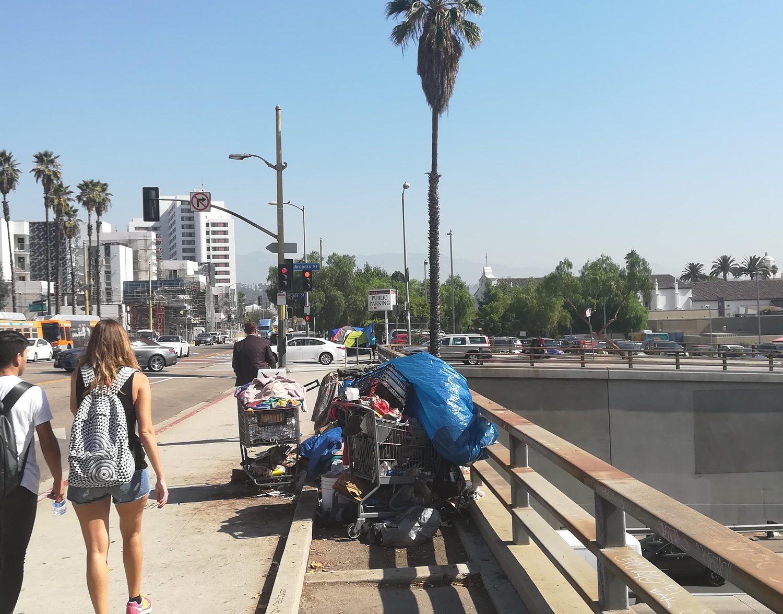 Los sin techo se asientan principalmente en el Downtown de Los Angeles