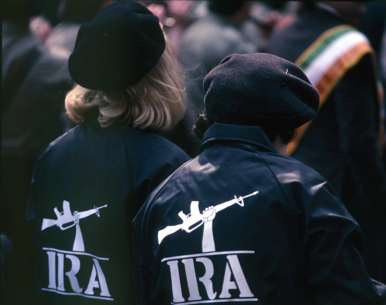 Imagen de dos simpatizantes del IRA.