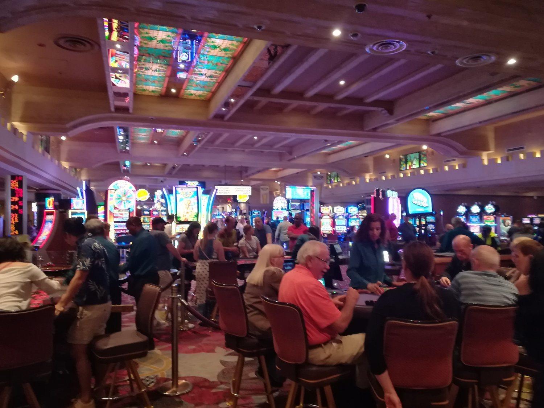Interior de un casino de Las Vegas