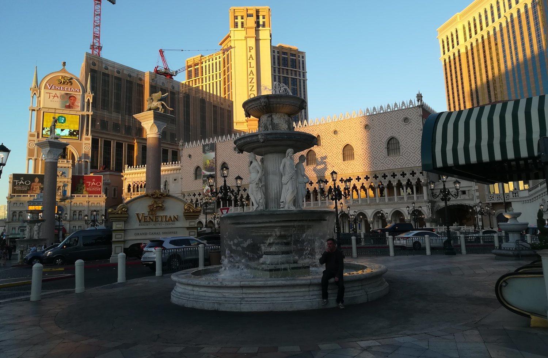 Exterior del Palazzo y el Venetian, dos de los casinos más lujosos de Las Vegas