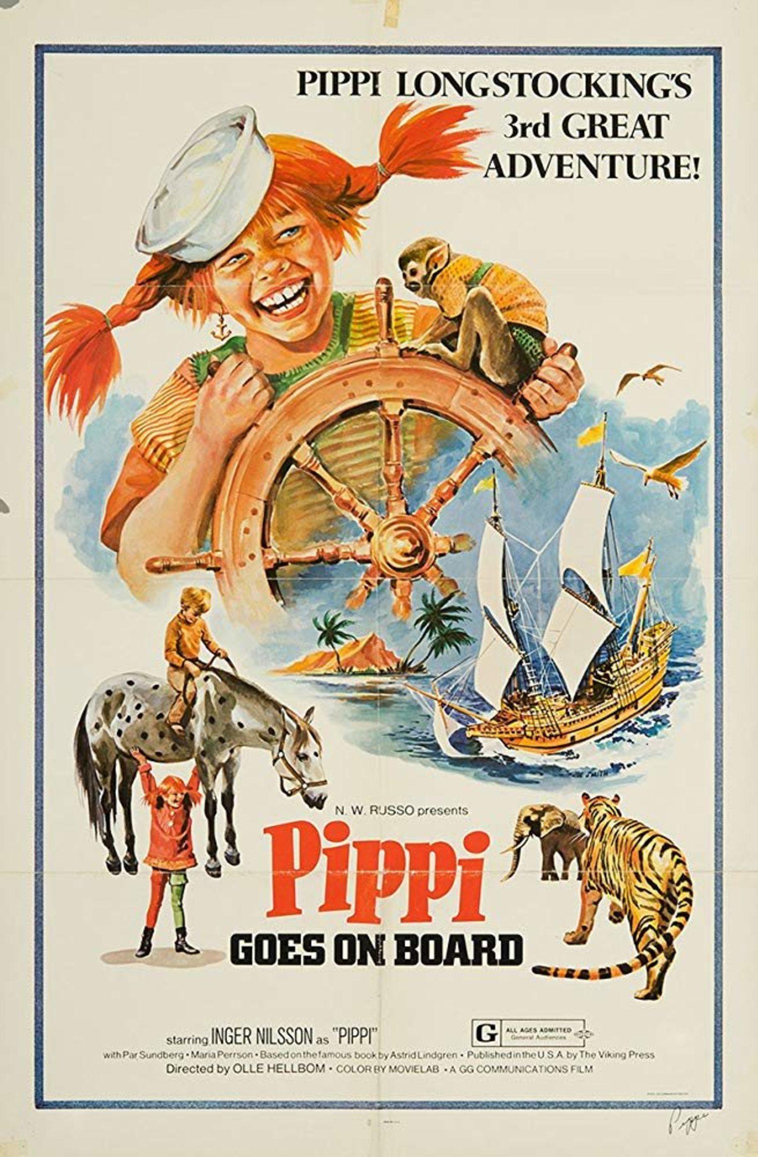 Imagen de la película 'Pippi Goes on Board'.