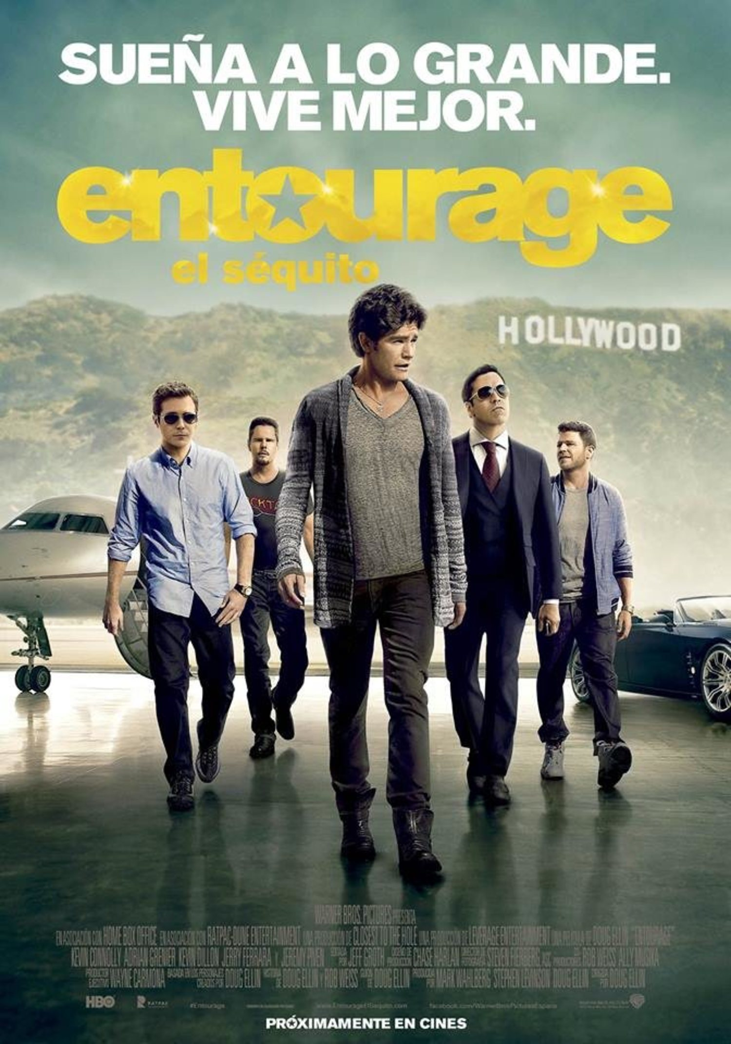 Imagen promocional de la película de 'Entourage'
