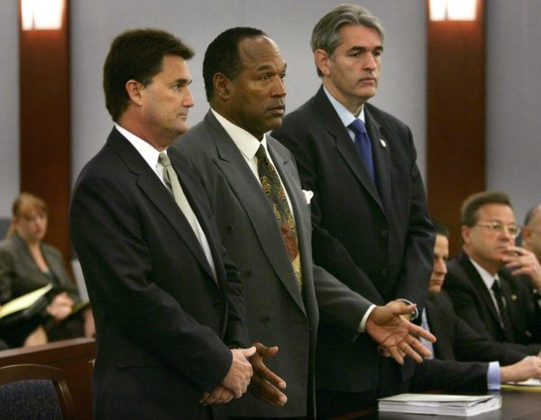 O.J. Simpson durante el juicio.
